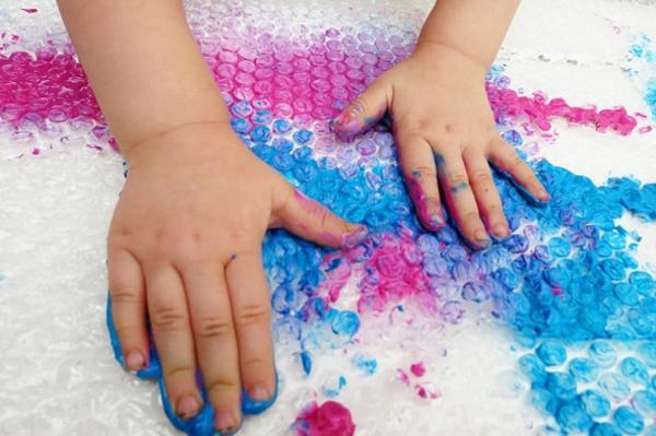 Fingermalfarben Kinderhände Fingerfarben Bilder