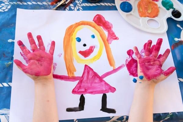 Fingermalfarben hausgemachte Fingerfarben Kinder