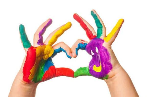 Fingermalfarben selber machen Fingerfarben Kinder