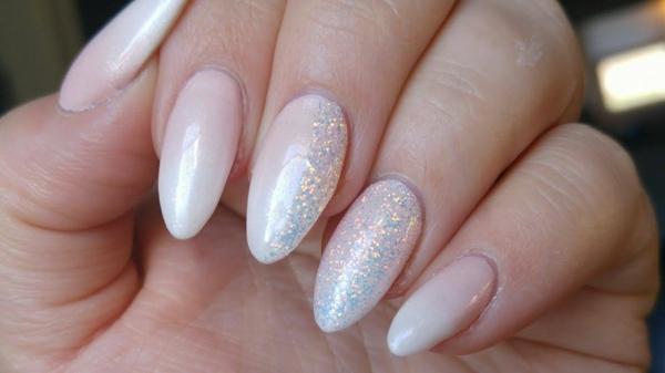 Fingernägel Nägel Babyboomer Nageldesign Ombre Glitter