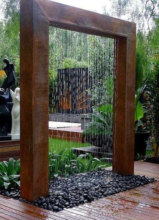 Gartengestaltung - Gartenideen mit Holz und Steinen