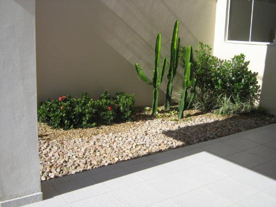Gartengestaltung - Steine und exotische Pflanzen