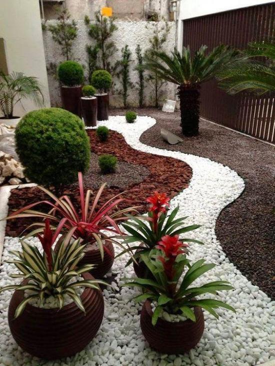 Gartengestaltung - schöne ovale Formen