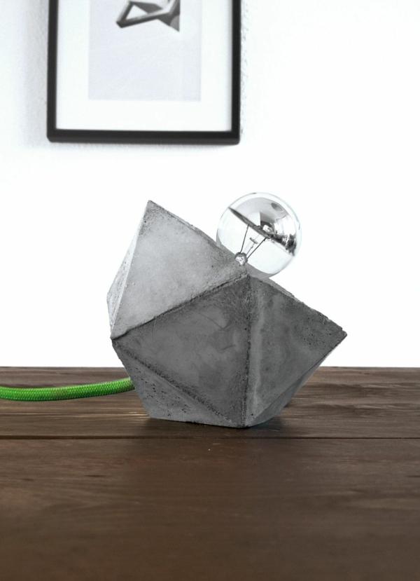 Geometric desk concrete lamp Pendelleuchte Beton