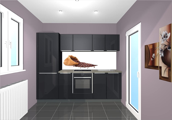 Glanzvolle vertikale Kücheneinrichtung Nischenverkleidung
