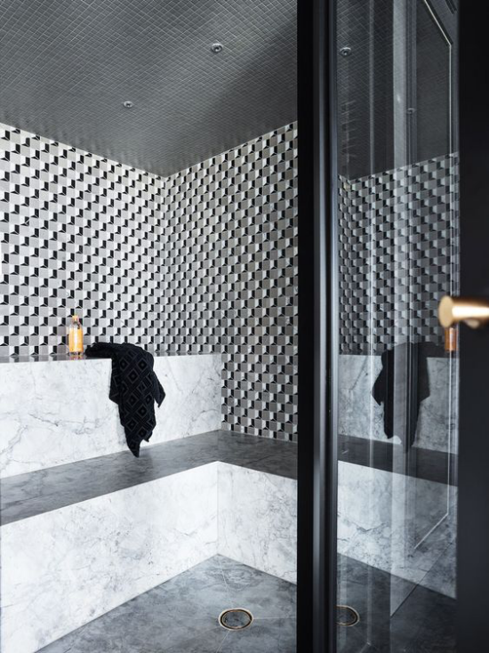 Heimsauna modernes Design Extras angenehme Atmosphäre