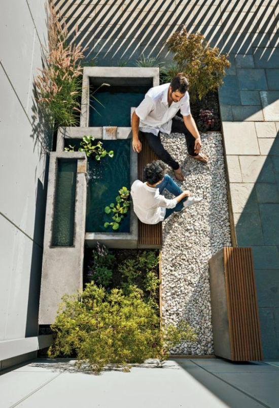 Innenhof Design - tolle und sehr moderne Gartengestaltung