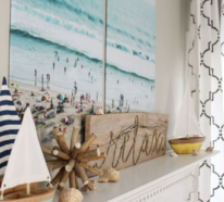 Wie kann man die Kaminkonsole sommerlich dekorieren – tolle Ideen, die vom Strand kommen