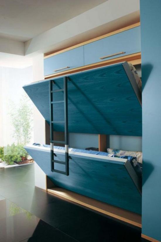 Klapptisch clevere Ideen für klappbare Möbelstücke Klappbetten verschwinden in der Wand