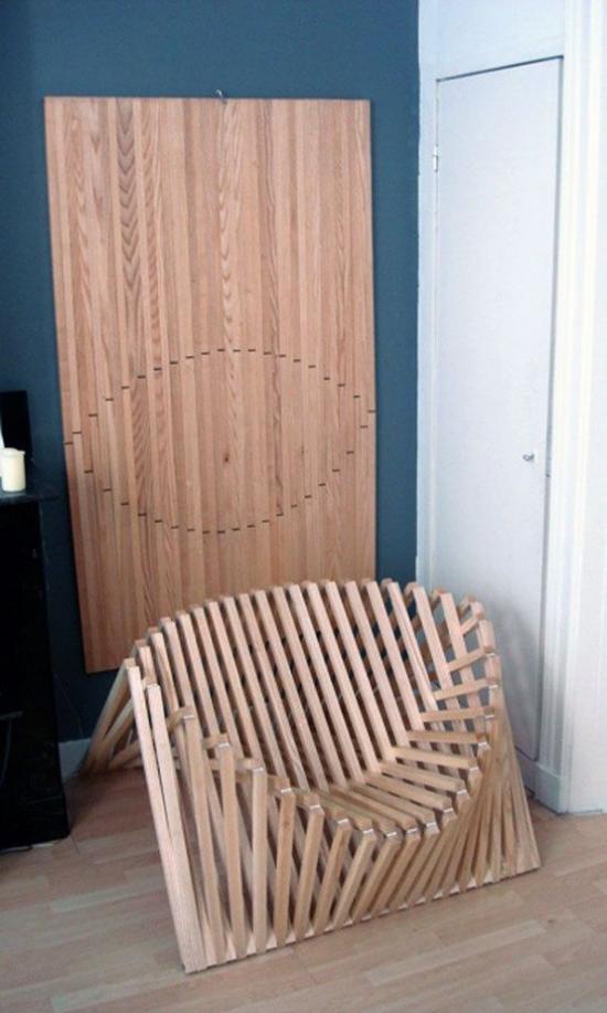 Klapptisch clevere Ideen für klappbare Möbelstücke Stuhl Sessel selber bauen interessante Designidee