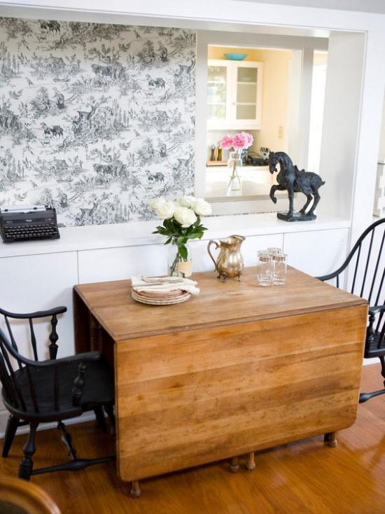 Klapptisch clevere Ideen für klappbare Möbelstücke Tisch aus Holzplatten zum Selberbauen