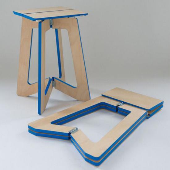 Klapptisch clevere Ideen für klappbare Möbelstücke faltbare Hocker einfaches Design