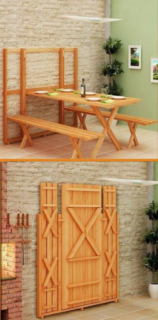 Klapptisch clevere Ideen für klappbare Möbelstücke faltbarer Tisch
