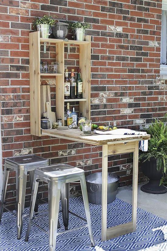 Klapptisch clevere Ideen für klappbare Möbelstücke im Garten