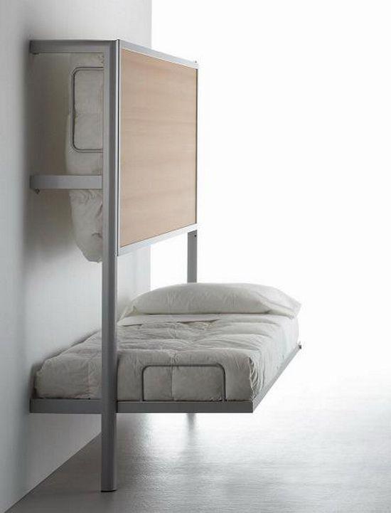 Klapptisch clevere Ideen für klappbare Möbelstücke klappbare Betten einfaches Design platzsparend