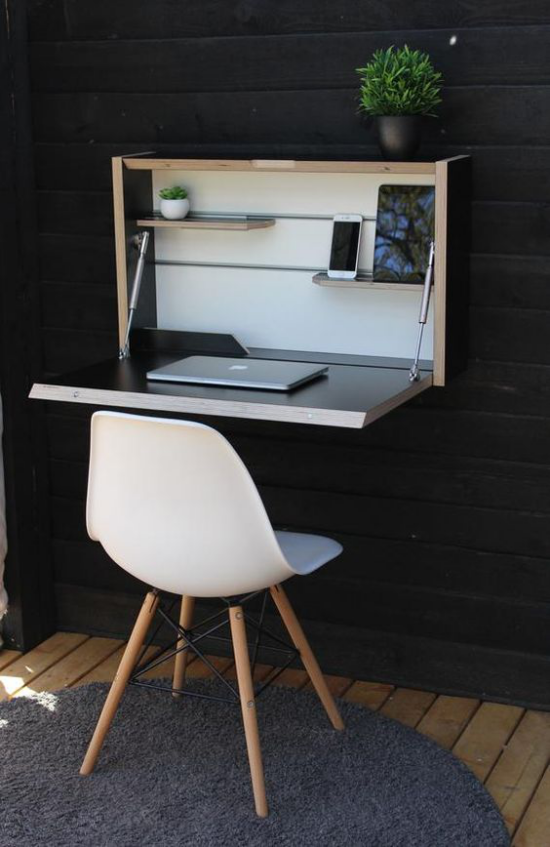 Klapptisch clevere Ideen für klappbare Möbelstücke kleines Heimbüro