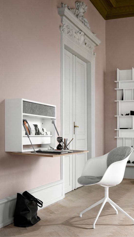 Klapptisch clevere Ideen für klappbare Möbelstücke moderner Sekretär als Arbeitstisch