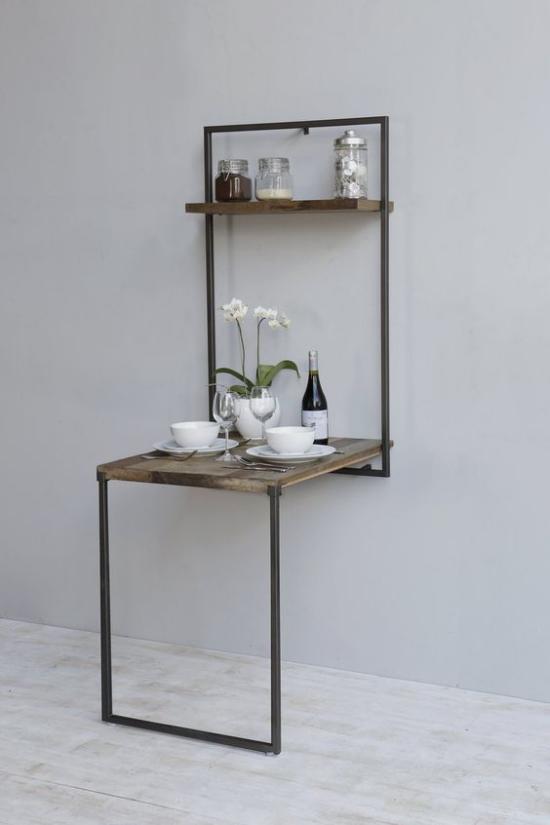Klapptisch clevere Ideen für klappbare Möbelstücke modernes Design Schlichtheit Eleganz ganz einfaches Gestell