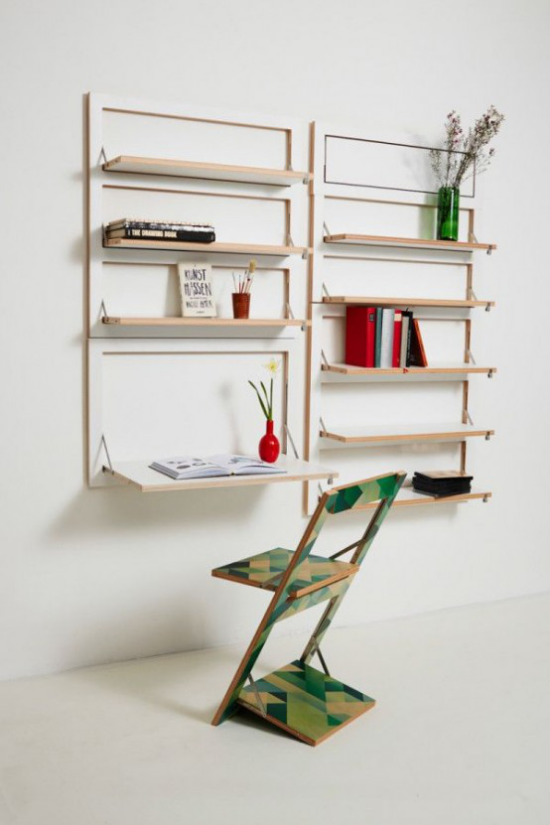 Klapptisch clevere Ideen für klappbare Möbelstücke selber bauen Klappstuhl einfaches Design