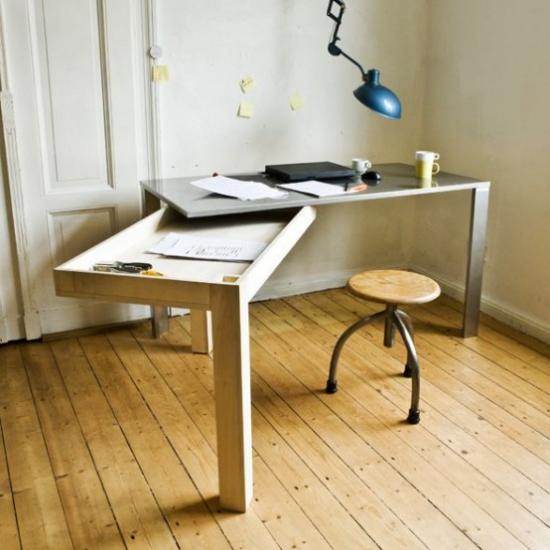 Klapptisch clevere Ideen für klappbare Möbelstücke selber bauen als Arbeitsraum benutzen
