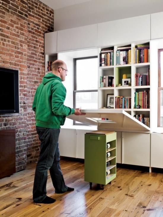 Klapptisch clevere Ideen für klappbare Möbelstücke selber bauen als Homeoffice benutzen