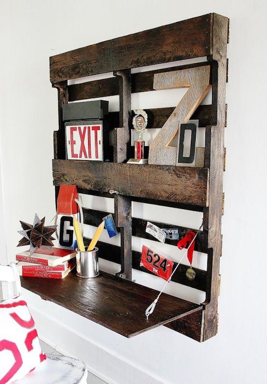 Klapptisch clevere Ideen für klappbare Möbelstücke selber bauen aus Paletten
