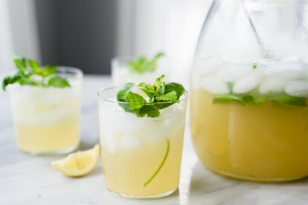 Kräuterlimonade Limonade mit Kräutern zubereiten