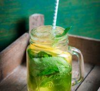 Kräuterlimonade selber machen: Rezept für Limonade mit Minze, Basilikum und Dill