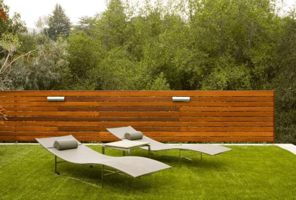 Kreariver Sichtschutz eine sonnige Lounge - tolle Idee