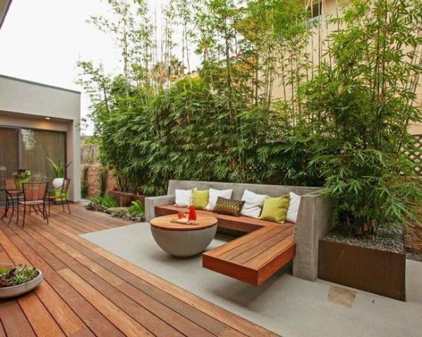 Kreariver Sichtschutz - eine sonnige Terrasse