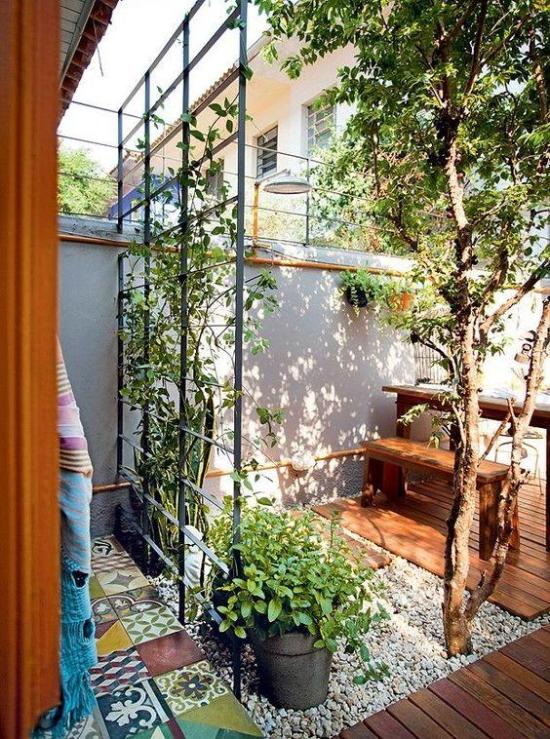 Moderner Innenhof - tolle moderne und originelle Gartengestaltung