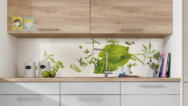 Nischenverkleidung - Küchenrückwand mit tollen Mustern