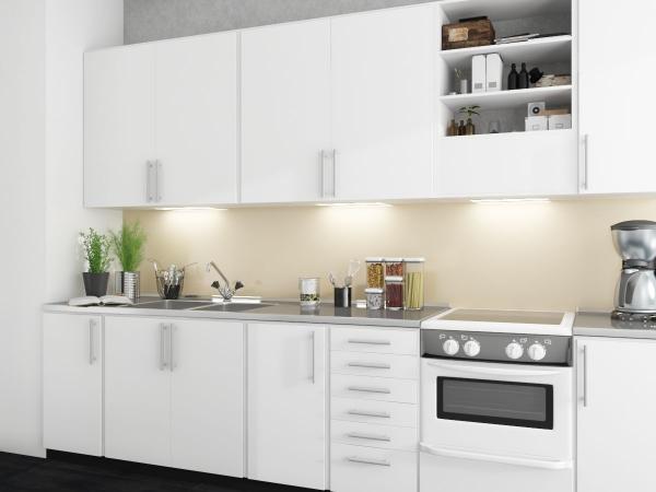 Nischenverkleidung - weiße Farben in einer tollen Küche