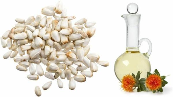 Saflorpflanze gelb orange Blüten Distelöl Vorteile