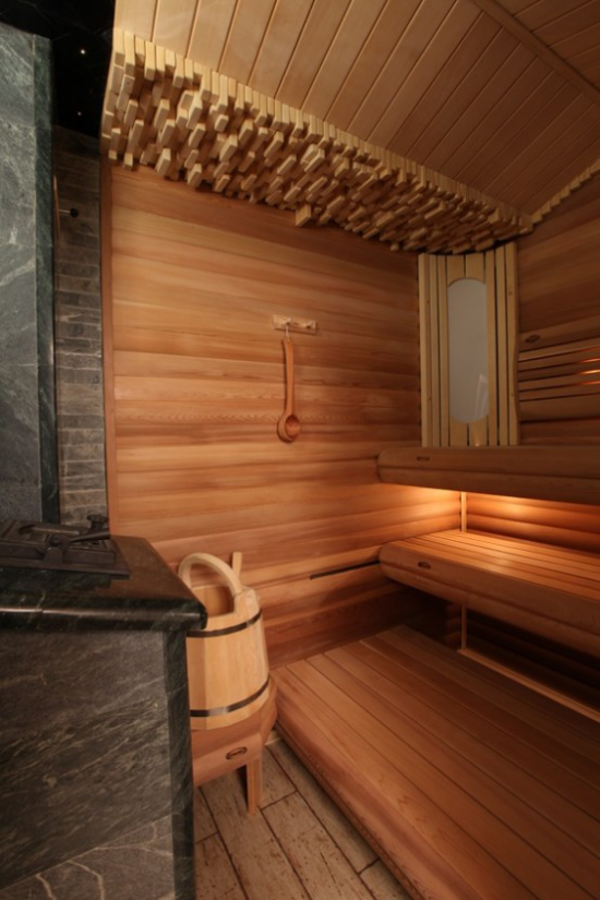 Sauna aus Holz klassisches Design saunieren zuhause ist gesund