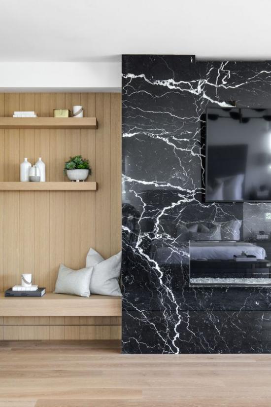 Schwarzer Marmor im Interieur viele Einsatzmöglichkeiten toller Look Luxus Raffinesse zeitlose Eleganz