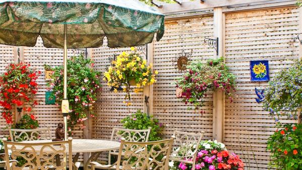 Sehr toller Zaun - Blumen - Kreariver Sichtschutz