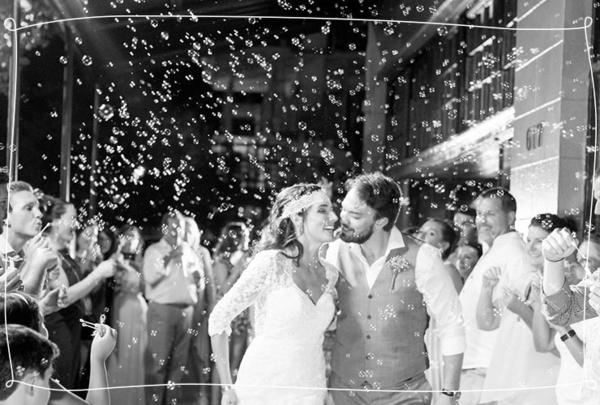 Seifenblasen Hochzeit Braut Bräutigam