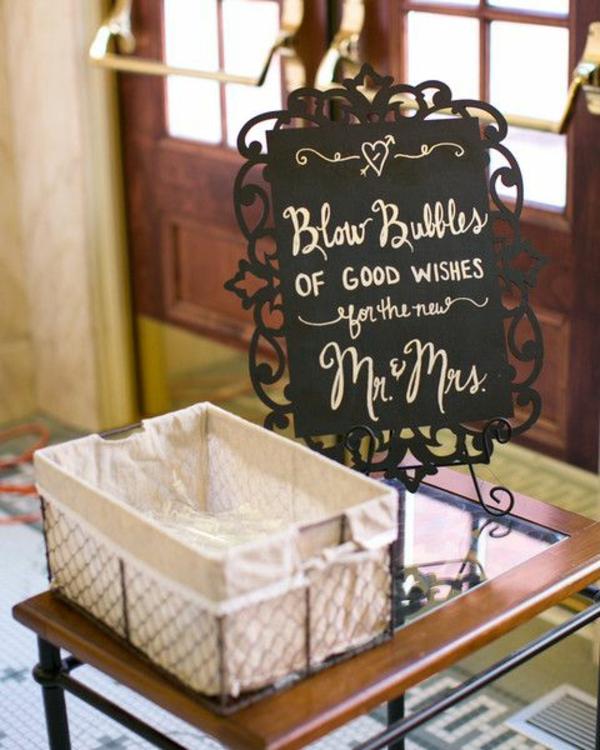 Seifenblasen Hochzeit Empfang feierliche Ideen