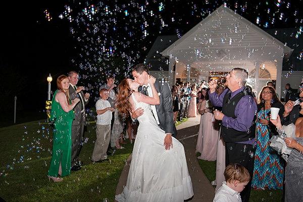 Seifenblasen Hochzeit Trauung Gäste
