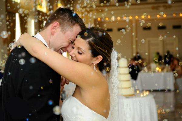 Seifenblasen Hochzeit erster Tanz