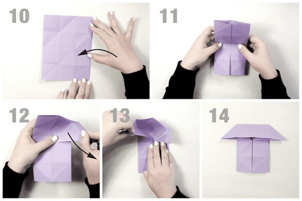 anleitung origami schmetterling basteln
