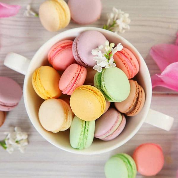 bunte französische macarons selber machen