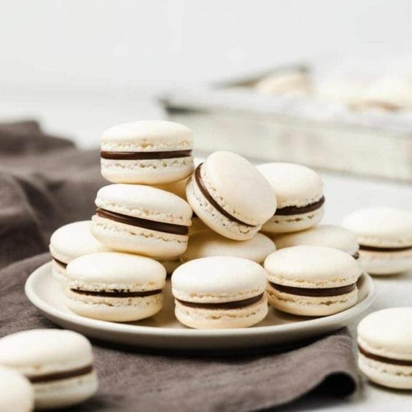 einfache französische macarons mit schokolade