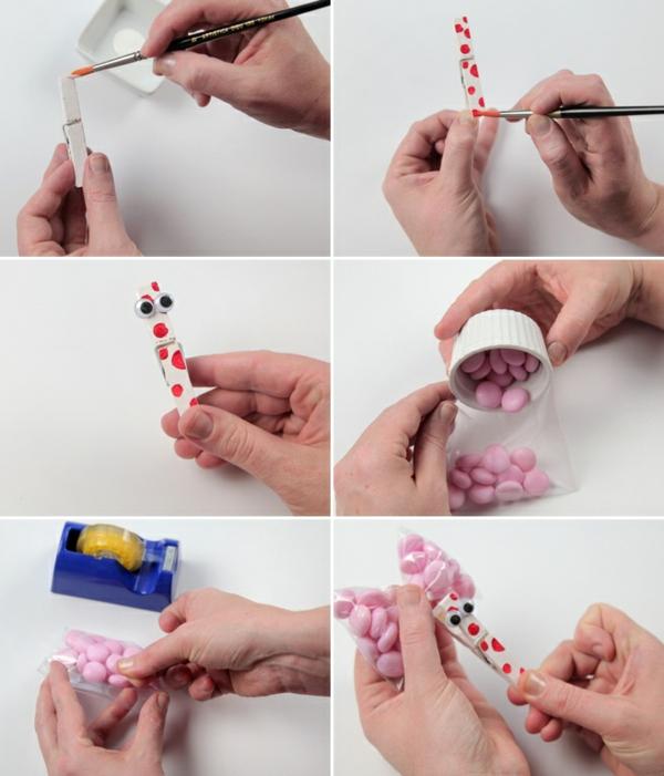 einfachen schmetterling basteln bonbons