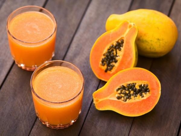 entsafter rezepte papaya saft