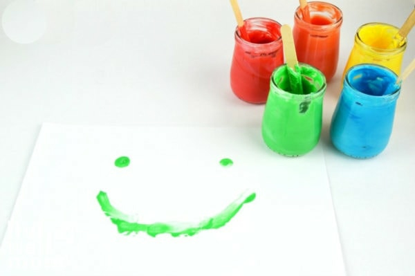 essbare Fingermalfarben Kinder Fingerfarben Bilder