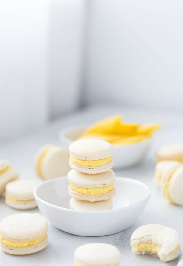 französiche macarons mit zitronenfüllung