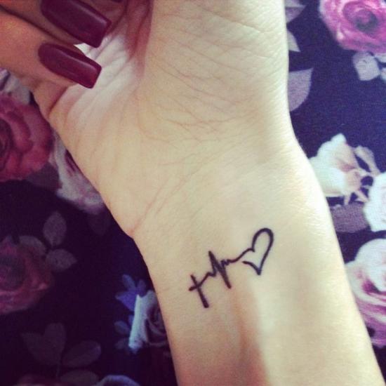 glaube liebe hoffnung tattoo frauen handgelenk