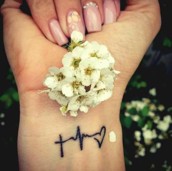 handgelenk damen glaube liebe hoffnung tattoo